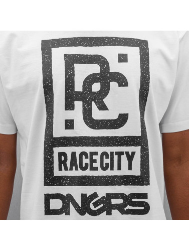 Dangerous DNGRS Hombres Camiseta Race City in blanco