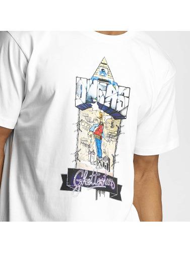 Dangerous DNGRS Hombres Camiseta Ghettostars in blanco