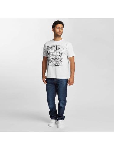 Dangerous DNGRS Hombres Camiseta Original Street Attiude in blanco