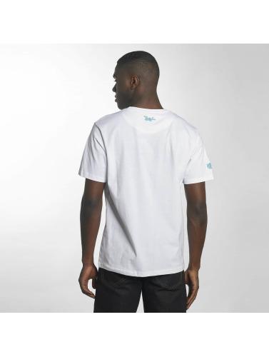 Dangerous DNGRS Hombres Camiseta Bassi in blanco