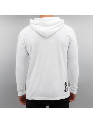 Dangerous DNGRS Hombres Camiseta de manga larga Logo Race City in blanco