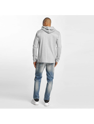 Dangerous DNGRS Hombres Camiseta de manga larga Trapper in gris