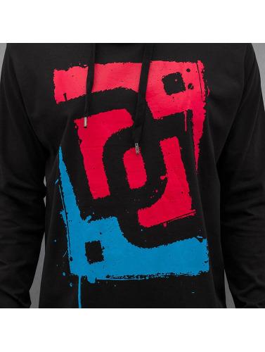 Dangerous DNGRS Hombres Camiseta de manga larga Logo Race City in negro