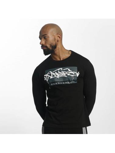 Dangerous DNGRS Hombres Camiseta de manga larga Topping in negro