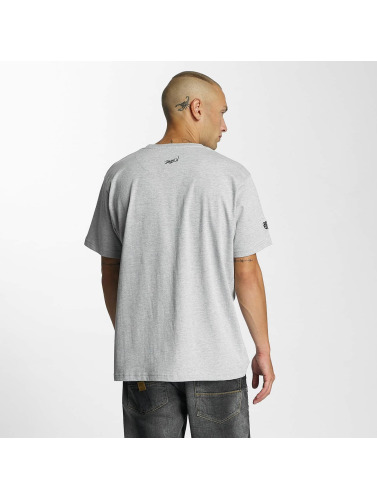 Dangerous DNGRS Hombres Camiseta Rocco Kingstyle in gris