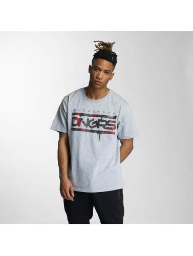 Dangerous DNGRS Hombres Camiseta Danger in gris