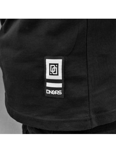 Dangerous DNGRS Hombres Camiseta Shark in negro