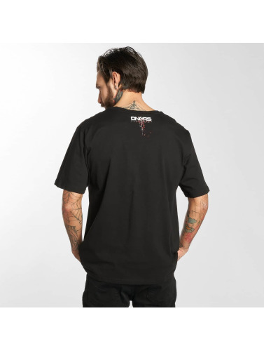 Dangerous DNGRS Hombres Camiseta TWOBlock in negro