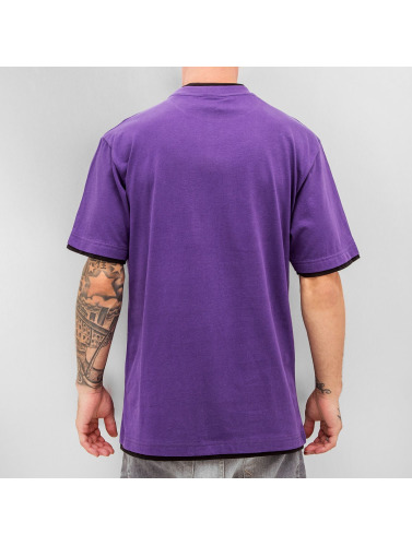Dangerous DNGRS Hombres Camiseta Two Tone Regular in púrpura