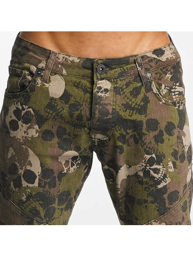DNGRS camuflaje Jeans ajustado in Hombres Dangerous Skullcamo UPwdZZq