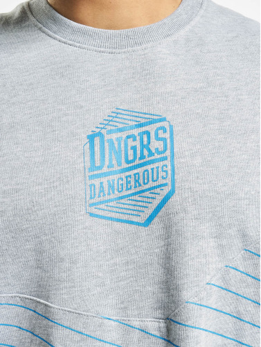 Dangerous DNGRS Hombres Jersey Tackle in gris