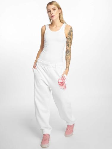 Dangerous DNGRS Damen Jogginghose Pink in weiß