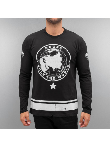 Dangerous DNGRS Herren Longsleeve Rule The World in schwarz