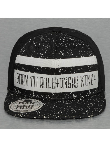 Dangerous DNGRS Snapback Cap Born To Rule in schwarz