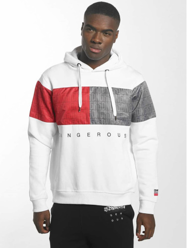 Dangerous DNGRS Hombres Sudadera Twoblck in blanco