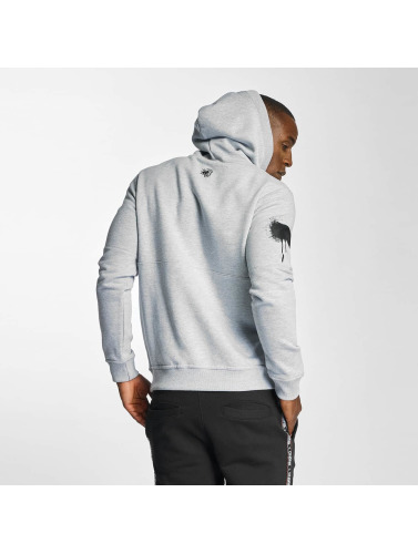 Dangerous DNGRS Hombres Sudadera Akte One Throw Up in gris