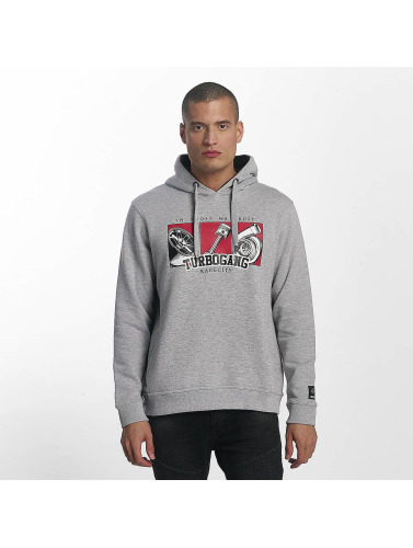 Dangerous DNGRS Hombres Sudadera Race City IBWT in gris