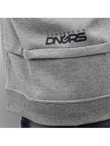 Dangerous DNGRS Hombres Sudaderas con cremallera Halil in gris