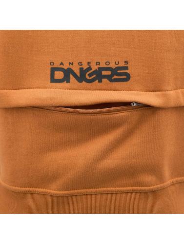 Dangerous DNGRS Hombres Sudaderas con cremallera DGZH044 in marrón
