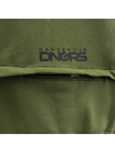 Dangerous DNGRS Hombres Sudaderas con cremallera Halil in oliva