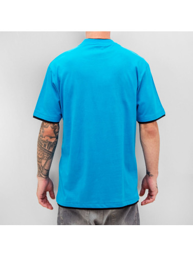 Dangerous DNGRS Herren T-Shirt Two Tone Regular in blau