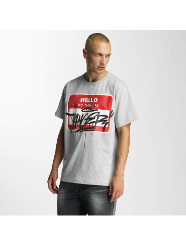 Dangerous DNGRS Herren T-Shirt Hello in grau