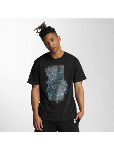 T-shirt Dangereux Dngrs Hommes Style Noir En Noir