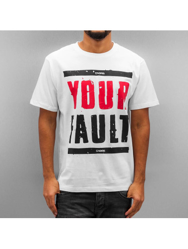 Dangerous DNGRS Herren T-Shirt Your Fault in weiß