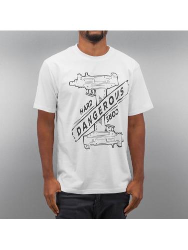 Dangerous DNGRS Herren T-Shirt Hardcore Uzi in weiß