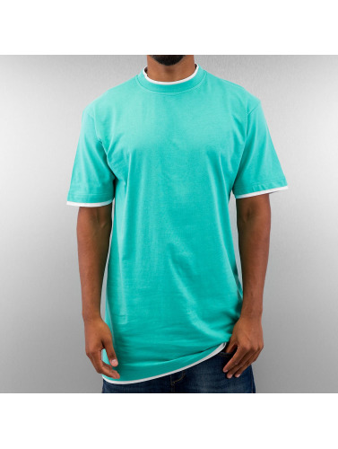 Dangerous DNGRS Herren Tall Tees Two Tone in türkis