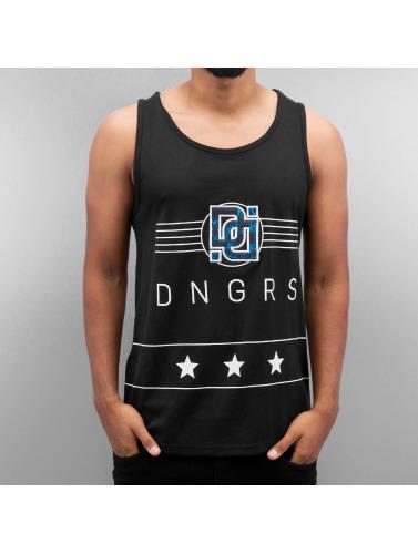 Dangerous DNGRS Hombres Tank Tops Star in negro