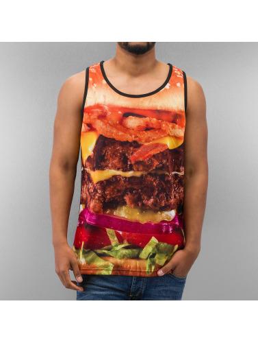 Dangerous DNGRS Herren Tank Tops Burger in schwarz