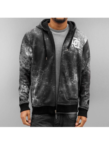 Dangerous DNGRS Herren Zip Hoodie World Map in schwarz