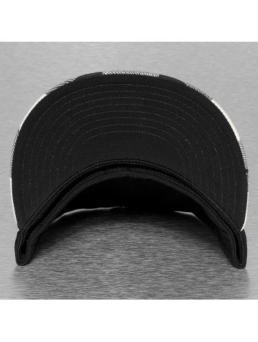 Decky USA Flexfitted Cap Plaid Flat Bill in schwarz
