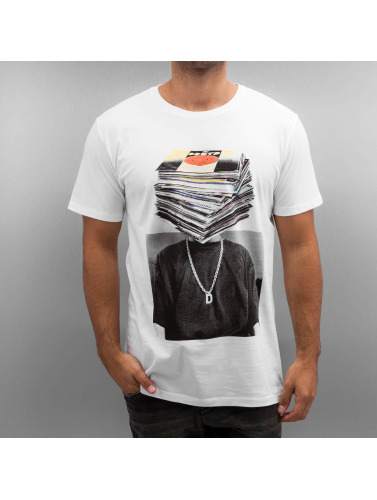 DEDICATED Herren T-Shirt Nicklas Johnson Record Head in weiß