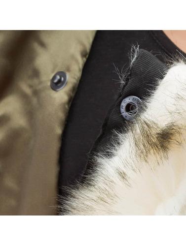 DEF Damen Bomberjacke Fake Fur in olive