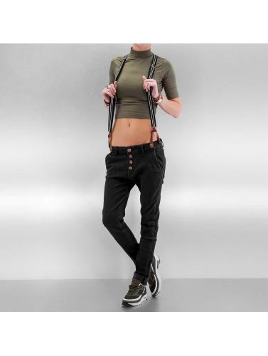 DEF Damen Boyfriend Suspenders II in schwarz