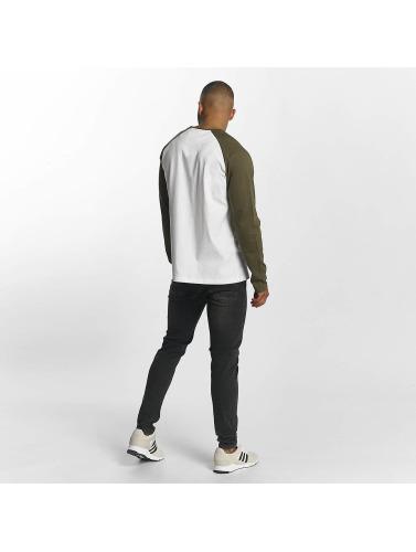 DEF Hombres Camiseta de manga larga Frenzy in blanco