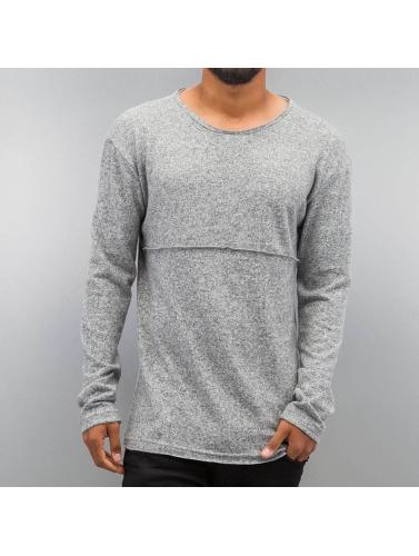 DEF Hombres Camiseta de manga larga Soft in gris