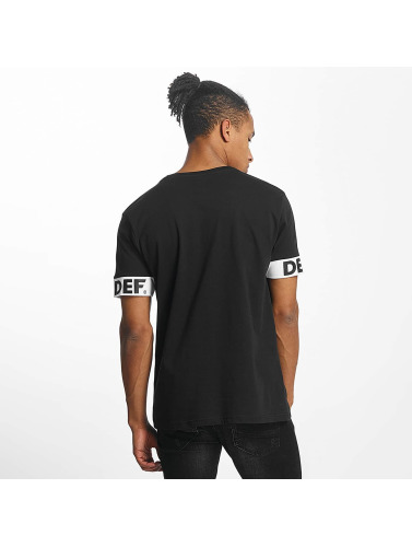 DEF Hombres Camiseta Fred in negro
