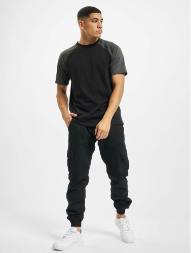 DEF Hombres Camiseta Roy in negro