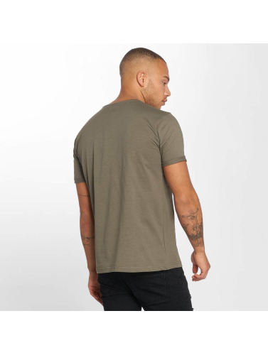 DEF Hombres Camiseta Raffle in oliva
