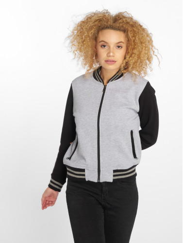 DEF Damen College Jacke Sugar in grau