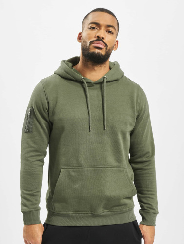 DEF Herren Hoody Upper Arm Pocket in olive