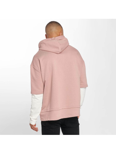 DEF Herren Hoody Layers in rosa
