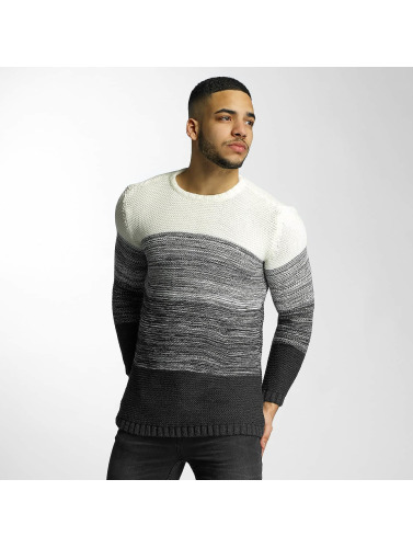 DEF Hombres Jersey Striped in gris