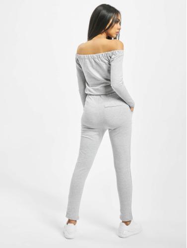 DEF Damen Jumpsuit Stretch in grau