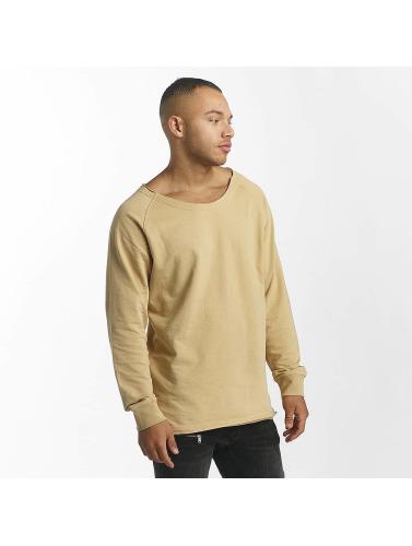 DEF Herren Pullover Rough in beige