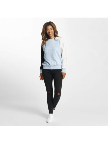 DEF Damen Pullover Colorblocking in blau