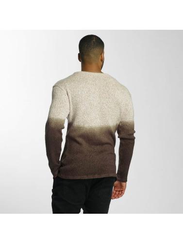 DEF Herren Pullover Dip-Dye in braun
